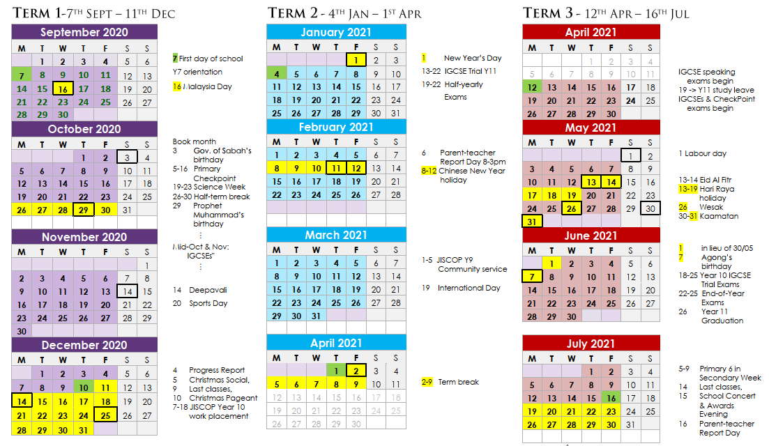 JIS Event Calendar